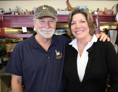 Tom and Debbie Gosselin (above) own The Golden Egg in Ports-mouth, N.H.